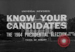 Image of Presidential campaign Washington DC USA, 1964, second 5 stock footage video 65675044283