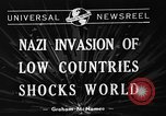 Image of Nazi Invasion Europe, 1940, second 3 stock footage video 65675044328