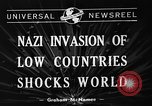 Image of Nazi Invasion Europe, 1940, second 4 stock footage video 65675044328