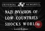 Image of Nazi Invasion Europe, 1940, second 5 stock footage video 65675044328