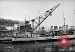 Image of shipbuilding by war production workers New York United States USA, 1940, second 5 stock footage video 65675044343