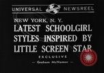 Image of schoolgirls model clothes New York United States USA, 1940, second 1 stock footage video 65675044346
