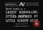Image of schoolgirls model clothes New York United States USA, 1940, second 2 stock footage video 65675044346