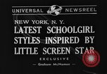 Image of schoolgirls model clothes New York United States USA, 1940, second 4 stock footage video 65675044346