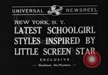 Image of schoolgirls model clothes New York United States USA, 1940, second 5 stock footage video 65675044346