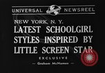 Image of schoolgirls model clothes New York United States USA, 1940, second 6 stock footage video 65675044346