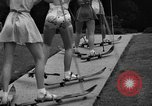 Image of roller skiing Del Monte California USA, 1940, second 11 stock footage video 65675044348