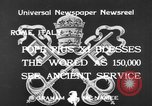 Image of Pope Pius XI Rome Italy, 1933, second 6 stock footage video 65675044355