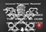 Image of Pope Pius XI Rome Italy, 1933, second 7 stock footage video 65675044355