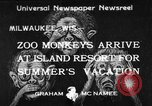 Image of Washington Park Zoo monkeys Milwaukee Wisconsin USA, 1933, second 1 stock footage video 65675044356
