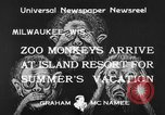 Image of Washington Park Zoo monkeys Milwaukee Wisconsin USA, 1933, second 5 stock footage video 65675044356