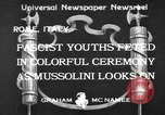 Image of Benito Mussolini Rome Italy, 1933, second 1 stock footage video 65675044360