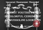 Image of Benito Mussolini Rome Italy, 1933, second 2 stock footage video 65675044360