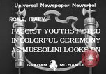 Image of Benito Mussolini Rome Italy, 1933, second 4 stock footage video 65675044360