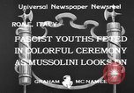 Image of Benito Mussolini Rome Italy, 1933, second 7 stock footage video 65675044360
