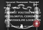 Image of Benito Mussolini Rome Italy, 1933, second 10 stock footage video 65675044360