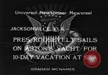 Image of Franklin D Roosevelt Jacksonville Florida USA, 1934, second 8 stock footage video 65675044365