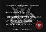 Image of Franklin D Roosevelt Jacksonville Florida USA, 1934, second 9 stock footage video 65675044365