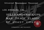 Image of West Coast Track Classic Los Angeles California USA, 1934, second 3 stock footage video 65675044373