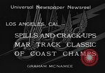 Image of West Coast Track Classic Los Angeles California USA, 1934, second 4 stock footage video 65675044373