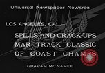 Image of West Coast Track Classic Los Angeles California USA, 1934, second 5 stock footage video 65675044373