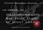 Image of West Coast Track Classic Los Angeles California USA, 1934, second 6 stock footage video 65675044373