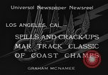 Image of West Coast Track Classic Los Angeles California USA, 1934, second 9 stock footage video 65675044373