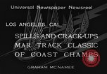 Image of West Coast Track Classic Los Angeles California USA, 1934, second 11 stock footage video 65675044373