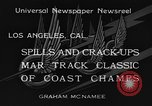 Image of West Coast Track Classic Los Angeles California USA, 1934, second 12 stock footage video 65675044373