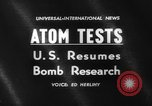 Image of nuclear tests Pacific Ocean, 1962, second 4 stock footage video 65675044374