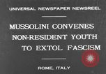 Image of Benito Mussolini Rome Italy, 1930, second 1 stock footage video 65675044379