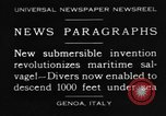 Image of special diving equipment Genoa Italy, 1930, second 1 stock footage video 65675044381
