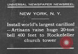 Image of 20 ton bell New York City USA, 1930, second 1 stock footage video 65675044383