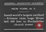 Image of 20 ton bell New York City USA, 1930, second 2 stock footage video 65675044383