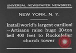 Image of 20 ton bell New York City USA, 1930, second 3 stock footage video 65675044383