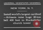 Image of 20 ton bell New York City USA, 1930, second 5 stock footage video 65675044383