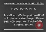 Image of 20 ton bell New York City USA, 1930, second 6 stock footage video 65675044383