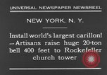 Image of 20 ton bell New York City USA, 1930, second 7 stock footage video 65675044383