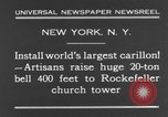 Image of 20 ton bell New York City USA, 1930, second 8 stock footage video 65675044383