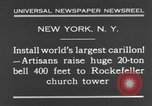Image of 20 ton bell New York City USA, 1930, second 9 stock footage video 65675044383