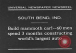 Image of mammoth car South Bend Indiana USA, 1931, second 1 stock footage video 65675044392