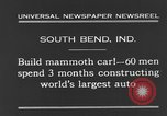 Image of mammoth car South Bend Indiana USA, 1931, second 8 stock footage video 65675044392