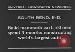 Image of mammoth car South Bend Indiana USA, 1931, second 9 stock footage video 65675044392