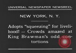 Image of King Brawman New York City USA, 1931, second 8 stock footage video 65675044393