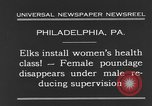 Image of fat women Philadelphia Pennsylvania USA, 1931, second 6 stock footage video 65675044394