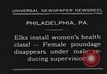 Image of fat women Philadelphia Pennsylvania USA, 1931, second 12 stock footage video 65675044394