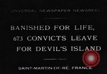 Image of 673 convicts Saint Martin De-Re France, 1931, second 1 stock footage video 65675044395