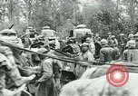 Image of American troops and French tanks in World War I France, 1918, second 2 stock footage video 65675044427