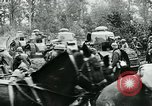 Image of American troops and French tanks in World War I France, 1918, second 8 stock footage video 65675044427