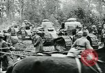 Image of American troops and French tanks in World War I France, 1918, second 9 stock footage video 65675044427